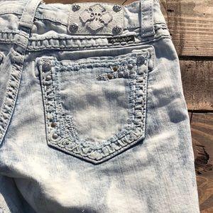 Miss Me Shorts - Miss Me Washed Denim Shorts